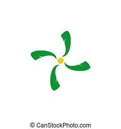 symbol vector of sun leaf swirl simple abstract design