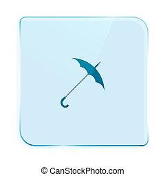 symbol, vektor, schirm, ikone