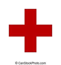 symbol, von, medizinprodukt, kreuz