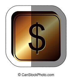 symbol waluty, dolar, ikona