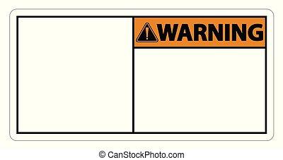 symbol warning sign label on white background