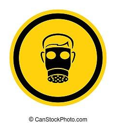 Symbol Wear Full Face Isolate On White Background, Vector Illustration EPS.10