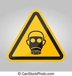 Symbol Wear Full Face Sign Isolate On White Background,Vector Illustration EPS.10
