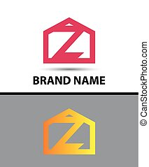 symbol, -, wektor, litera, logo, z, ikona