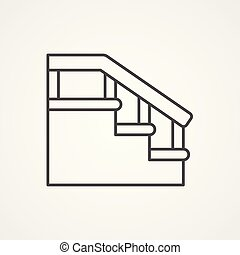 symbol, wektor, schody, ikona, znak