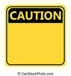 symbol yellow caution sign icon on white background