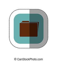 symbol yellow file icon