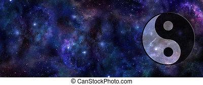 symbol, yin, chorągiew, yang