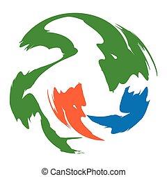 symbol, zeichen, vektor, design, schablone, logo, kreis, abstrakt, ikone