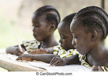 symbole écriture, arrière-plan., bamako, pédagogique, deux, ...