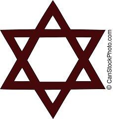 symbole, étoile, david