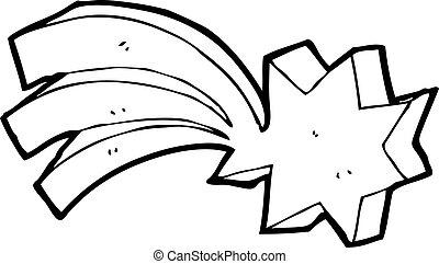 symbole, étoile filante, dessin animé