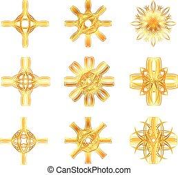symbole, étoile, or