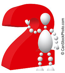 symbole, 2, rouges, homme