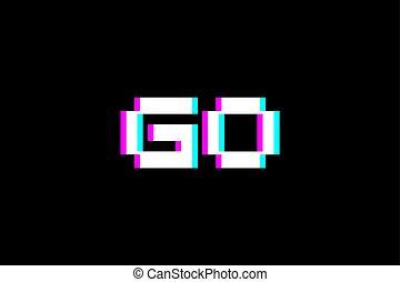 symbole, aller, visuel