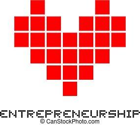 symbole, amour, entrepreneurship