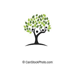symbole, arbre, famille, icône