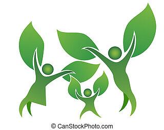 symbole, arbre, famille