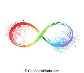 symbole arc-en-ciel, de, infinité