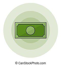 symbole argent, papier
