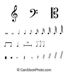 symbole, aufzeichnung, musikalisches