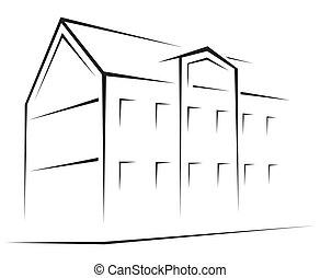 symbole, bâtiment