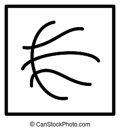symbole, balle, basket-ball