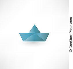 symbole, bateau papier