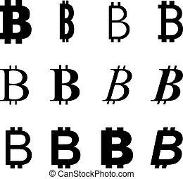 symbole, bitcoin, variation