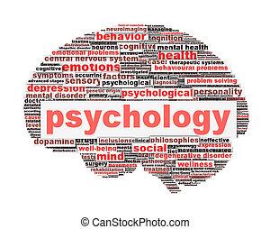 symbole, blanc, conception, psychologie, isolé