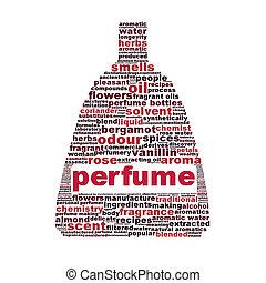 symbole, blanc, isolé, fond, parfum