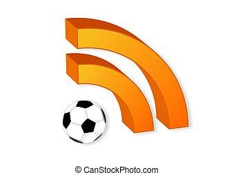 symbole, boule football, rss