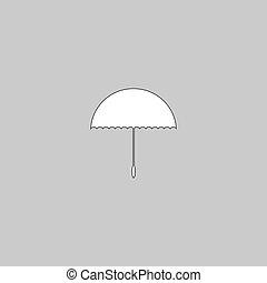 symbole, bumbershoot, informatique