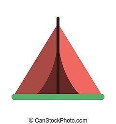 symbole, camper tente