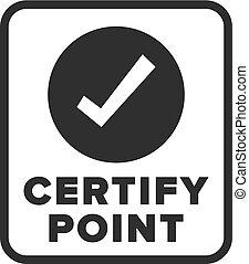 symbole, certify, point