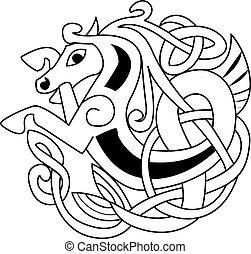 symbole, cheval, celtique