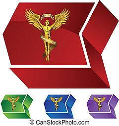 symbole, chiropraxie