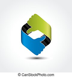 symbole, -, choix, vecteur, mieux, geste main