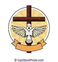symbole, chrétien, croix
