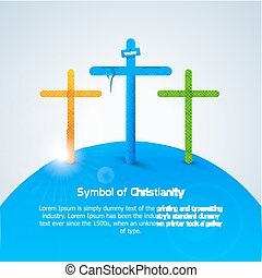 symbole, christianity., croix