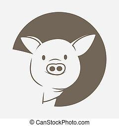 symbole, cochon
