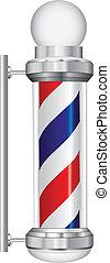 symbole, coiffeur, lampe