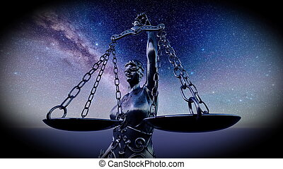symbole, -, concept, légal, 3d, rendre, balances, droit & loi, justice, image