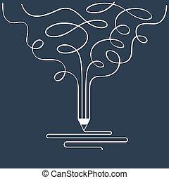 symbole, conception, écriture, studio, art conter, graphique, créatif
