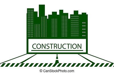 symbole, construction, gratte-ciel
