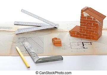 symbole, construction, outils