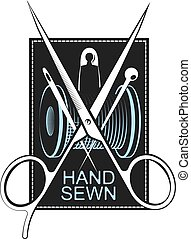 symbole, couture, main