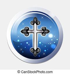 symbole, croix, icône