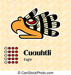 symbole, cuauhtli, aztèque