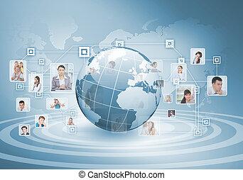 symbole, de, social, réseau